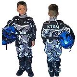 XTRM Traje de kart junior de una sola pieza camuflaje gris motocicleta motocross ATV Pit Mini Dirt MTB niños bicicleta equitación ropa (YL (6-7 años)