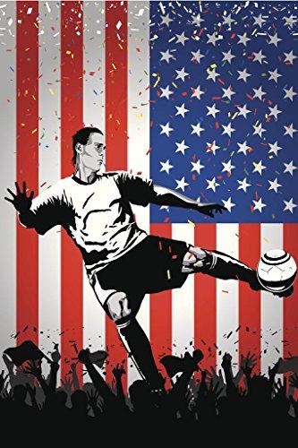 USA Soccer Player Sports Cool Wall Decor Art Print Poster 24x36