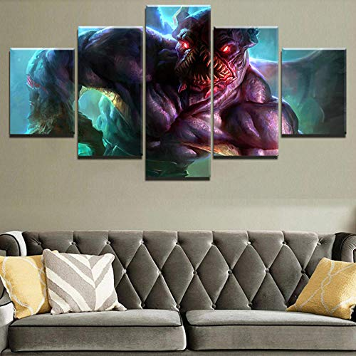 PANPAN Hauptdekoration Leinwand Kunst 5 Stück Leinwand Malerei Stalker HD Gedrucktes Spiel Poster Wandkunst Bild Moderne Dekoration