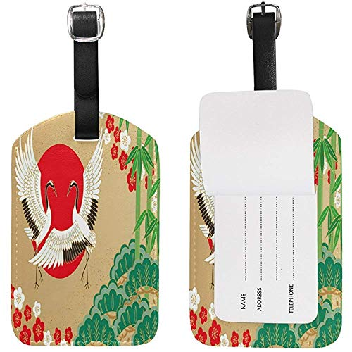 Pine Bamboo Plum Japanese Luggage Tags Travel Id Bag Tag for Suitcase 1 Piece