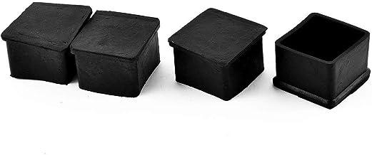 sourcingmap/® Piedini conici 26mm 20 pezzi neri in gomma per tavoli sedie mobili