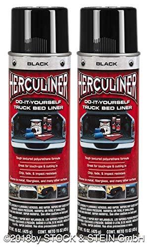 Beschichtungsfarbe 2 Stück Spraydosen von HERCULINER in schwarz 2 x 440ml