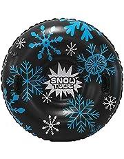 Roeam Snow Tube tubbåtar skidåkning skidåkare uppblåsbara skidskridskor högpresterande slädsrör, superstora 119 cm