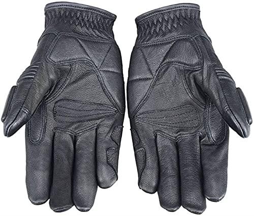 Guantes deportivos Icono de pantalla táctil Guantes de cuero Motocicleta Equipo de corredor de motocicletas Guantes de motocicleta Invierno Fibra de carbono Fung Full Full Oall Gloves-Black guantes