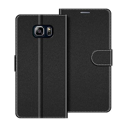 COODIO Handyhülle für Samsung Galaxy Note 5 Handy Hülle, Samsung Galaxy Note 5 Hülle Leder Handytasche für Samsung Galaxy Note 5 Klapphülle Tasche, Schwarz