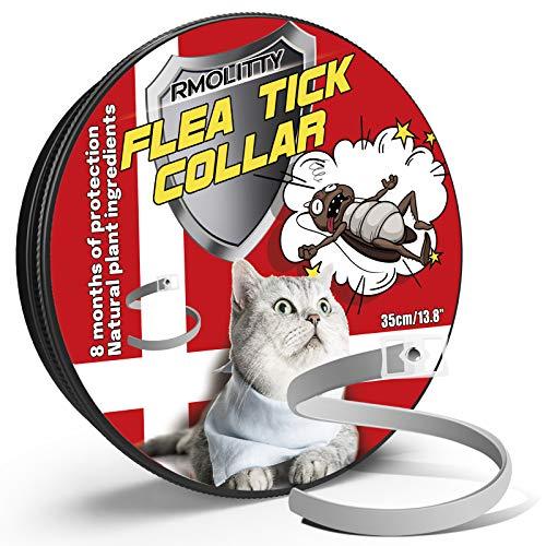 Rmolitty Collar Antiparasitario Gato Collar para Garrapatas, 8 Meses de Protección para Gato (35cm)