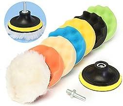 Coche Pulido Buffer Waxing Pulido Pad Dia 4 pulgadas Drill Pulido Sponge Wheel Set con Taladro Adaptador para M10 Conector Drill