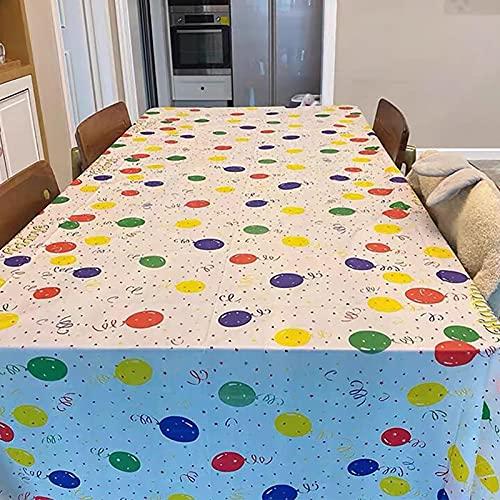 Weihnachtsballon Tischdecke, Party-spezielles Muster Tischdecke, Geburtstags-Party Rechteckige Kinder-Camping-Tisch-Dessert-Tischdecke, (2 Stück, 54 * 108in)