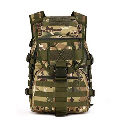 YFNT Spalla Zaino 40l Militare tattico Zaino Zaino da Assalto Zaino Gear Borsa Impermeabile per Caccia Campeggio, CP Camouflage