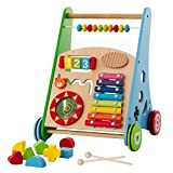 Baby Toys – Kids' Activity Toy – Wooden Push and Pull Learning Walker for Boys and Girls – Multiple...