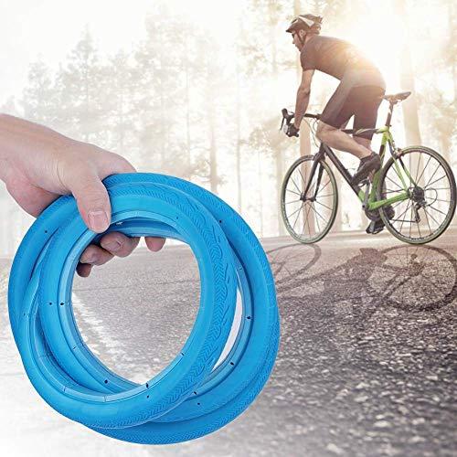 Schulzeit Fahrrad Vollreifen, langlebig und rutschfest Aufblasbare schlauchlose Fahrradausrüstung für Rennradreifen mit festem Gang 24 * 1 3/8(Schwarz)