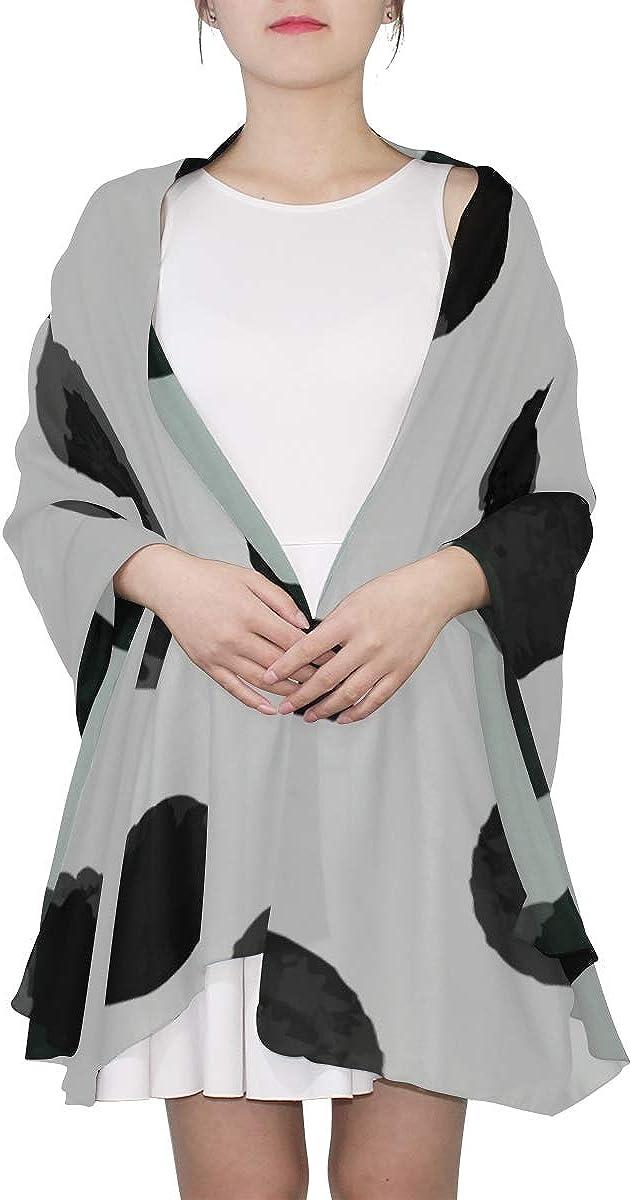 Shawl Head Wrap White Black Polka Dot H Scarf For Women Scarf For Men Lightweight Print Scarves Fashion Lightweight Scarf Girls Scarf