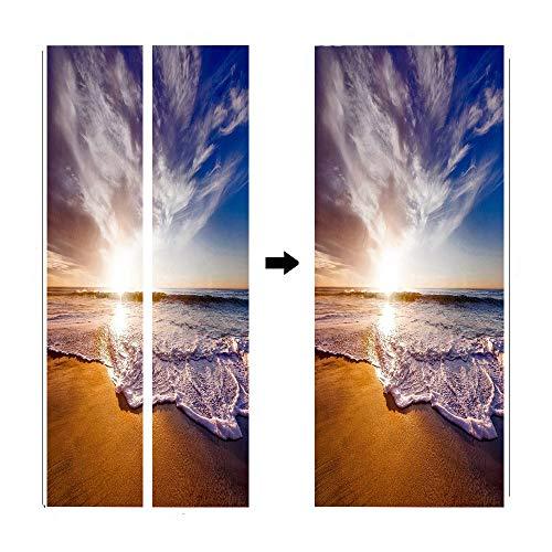 Pegatinas en la playa con patrón mágico en 3D creativos y respetuosos...