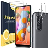 [2+2 Pack] UniqueMe Camera Lens Protector and Screen Protector for Samsung Galaxy A11,Tempered Glass [Easy Installation Frame] HD Clear [Anti-Scratch] [Bubble Free]