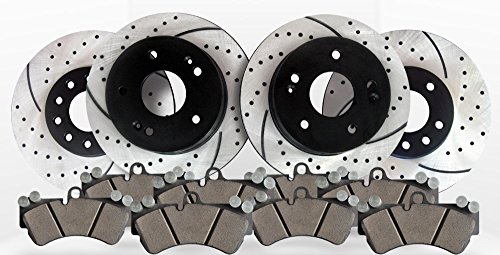 Approved Performance E6676 - E36 [Front & Rear Kit] Performance Drilled/Slotted Brake Rotors and Ceramic Pads