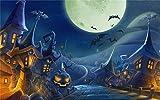FFGHH Puzzles 6-7 Años Puzzles Madera Jigsaw Puzzle para Niños Adultos Amigo Puzzle 108 Piezas Tema De Halloween Rompecabezas Sin Solución 9In X 7In