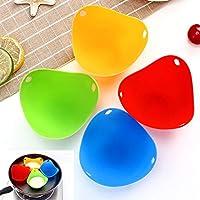 Jsdoin - Set di 8 pezzi per uova da cucina Essentials, in silicone di grado LFGB per uova in camicia, uova in camicia, uova in camicia, fornello per uova in camicia, stampo per forno a microonde
