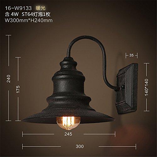 JJZHG wandlamp wandlamp waterdichte wandverlichting tuinbalkongang wandlamp oude persoonlijkheid van de lantaarn blacklight bevat: wandlamp, stoere wandlampen