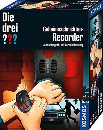 Kosmos 632175 Die DREI Geheimnachrichten-Recorder Detektiv Set für Kinder, Black
