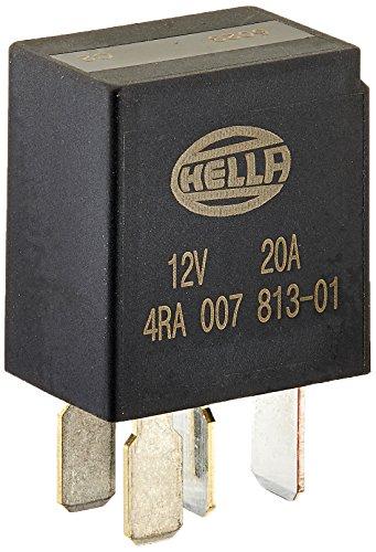 HELLA 4RA 933 766,111 Relé, corriente de trabajo , 12V , 4polos , Diagrama de circuito: S2 , Conector: C , Contacto de cierre , Color: negro , sin soporte