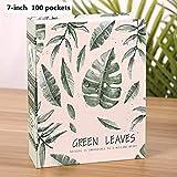 Graysongsm - Álbum de fotos de recuerdo para el regalo de bodas, fotos coleccionables, tarjetas de 100 a 200 páginas, álbum de 7 pulgadas, 5 plantas, impresión verde