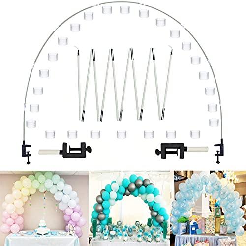 Arco de globos, juego de globos, mesa de globos, marco de arco, para fiestas, varios tamaños de mesa para bodas, cumpleaños y decoración de Navidad