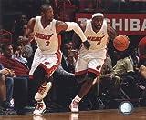 Dwyane Wade & LeBron James 2010-11 Action Sports Photo...