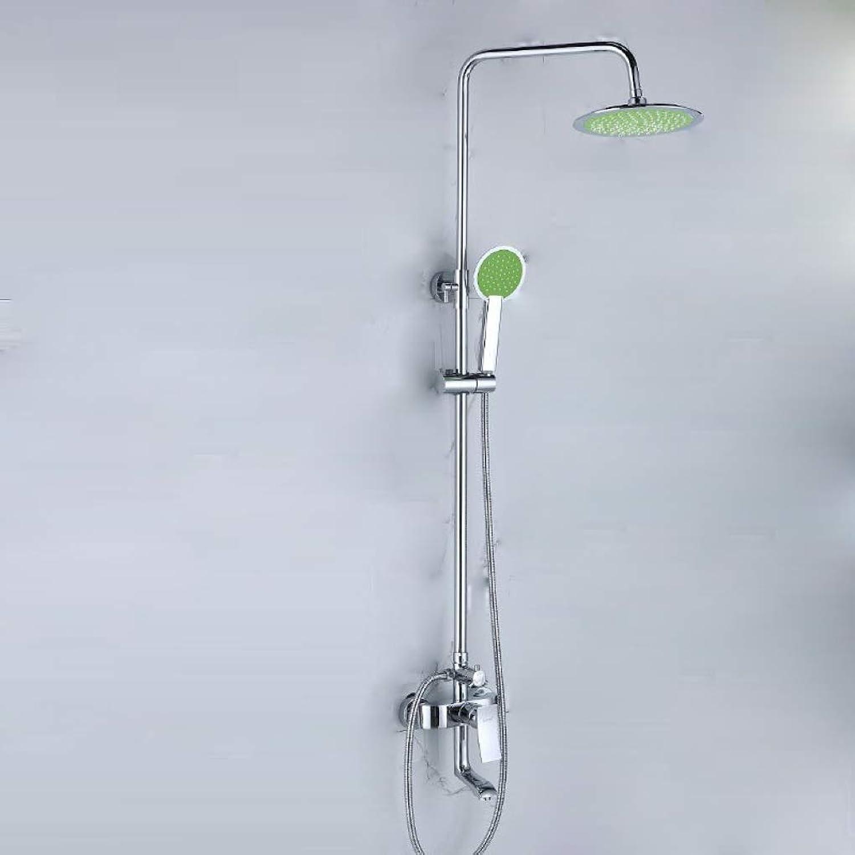 LyMei Badezimmer Regen Duschsystem, Kupfer Dusche Set-Moderne Regendusche Sets für Badezimmer-Wand montiert