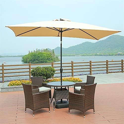 SKYWPOJU Sombrilla de jardín 200 × 300 cm, Resistente a los Rayos UV 50+, Parasol Rectangular contra la Pared Ideal para balcón, terraza, jardín (Color : Beige)