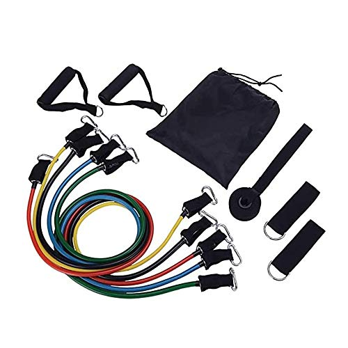 Great Features Of Portable Exercise Resistance Band Set, Exercise Stretch Fitness Home Set, Exercise...