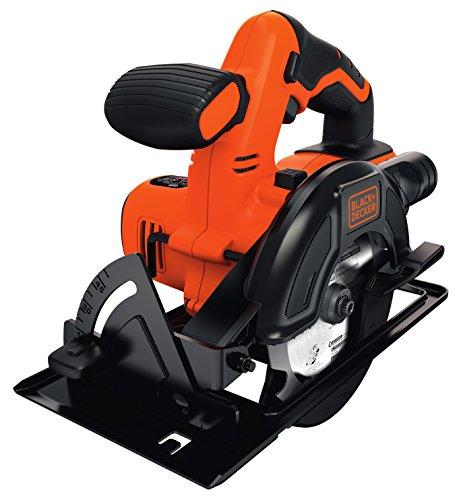 Black+Decker Akku-Kreissäge (18V, bis zu 43 mm Schnitttiefe einstellbar, Ø 140 mm, ohne Ladegerät, mit Überlastschutz, elektrische Bremse, gummierter Griff) BDCCS18N