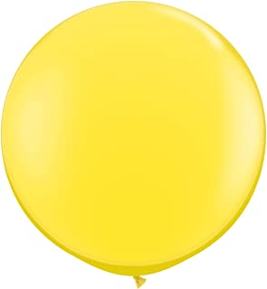 Yellow 3ft Qualatex Latex Giant Balloons x 2