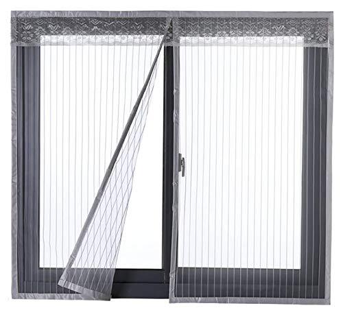 Liveinu Moustiquaire de Porte Ou Fenetre Magnetique Rideau Moustiquaire De Porte Avec Aimants Blanc 120x130cm