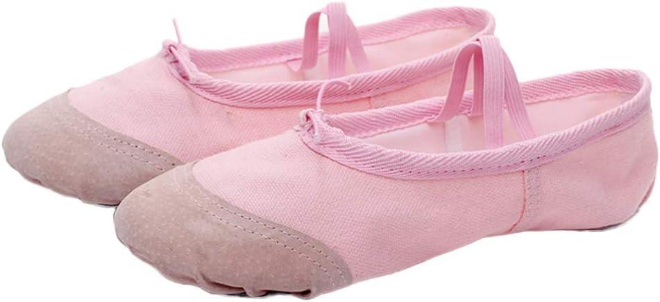 Milisten Kids Ballet Practice Shoes Ballet Slipper Shoe Yoga Shoes Dance Wear Slipper for Dancing Size 24