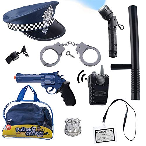 Born Toys (11 PCS) Police Hat and Toys role play set for Swat, Detective,FBI,...
