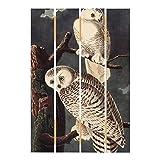 Bilderwelten Cuadro de Madera - Vintage Board Snow Owl 70x48cm