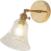 JIY Puur Koperen Wandlamp Mirror Headlight Bedside Badkamer Garderobe Muur Lamp van het Glas Lampen voor boven de wastafel...