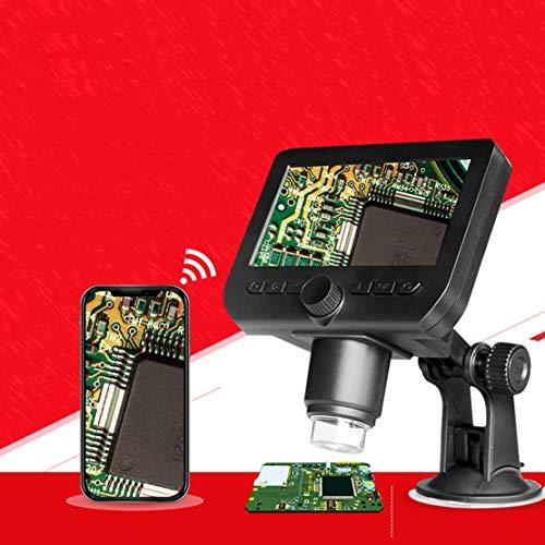 JFSKD 1000x led-microscoop 4,3-inch wifi-microscoop met HD-scherm, 2 miljoen pixels, wifi-verbindingsondersteuning voor geavanceerde geheugenkaart