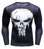 Cody Lundin T-Shirt de Compression à Manches Longues série de Super héros pour...
