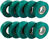 GTSE 10 rollos de cinta aislante eléctrica de PVC azul, 20 m x 19 mm, Paquete de 10 rollos premium