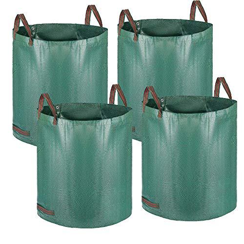 Alaskaprint 4X Gartenabfallsack Selbstaufstellend Gartensack Laubsack 272L aus robustem Polypropylen-Gewebe (PP) 150g/m² Laubsack Gartenkorb Wasserabweisend 390g
