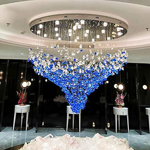 JXILY Deckenleuchte-Verein-Gewohnheit Edelstein-Lampe Verkaufsabteilung Sand Tabelle Kronleuchter Satiniertem Glas-Kunst-Lampen Bar Non-Standard-Lampe Individuelle,White Light