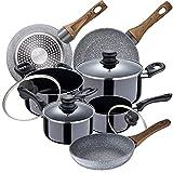 Bateria de cocina 8 piezas SAN IGNACIO Porto de aluminio prensado con juego sartenes (22/24/26 cm) SAN IGNACIO Daimiel en...