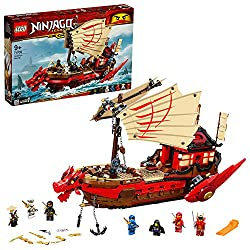 Features a buildable battle ship, an updated version of the NINJAGO boat from the TV series season 1 with many re-movable parts & functions It features a detachable room, dropping anchor, moving sails and rotating engines; rotate the engine to reveal...