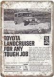 NOT Toyota Landcruiser Metall gemalt Retro Kunst Poster