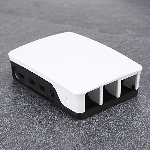 Carcasa Protectora Protectora para Frambuesa, Caja Protectora para Raspberry Pi 4B, para Raspberry Pi 4B(Black and White)