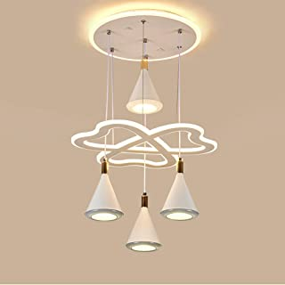 Modern Chandelier Circular LED Dimmable 240W Chandelier LED Acrylic Pendant Chandeliers Lighting with 3 Lamp Heads Contemp...
