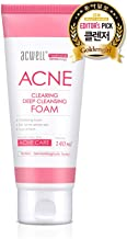 ACWELL Acne Clearing Deep Cleansing Foam 4.73 Fluid Ounce, Acne Trouble Care Cleansing Foam Facial Wash Skin Soothing Hypoallergenic Moisturizing Soothing Effect