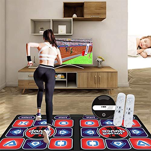 LDJ Inalámbrica Alfombrilla De Baile Antideslizante USB HD Actualizado Alfombra De Juego Musical Somatosensorial Portátil Plegable, Insonorización 11mm para TV Y Ordenador