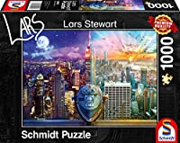 New York, Night and Day Puzzle 1.000 Teile: Erwachsenenpuzzle Lars Stewart - Day and Night